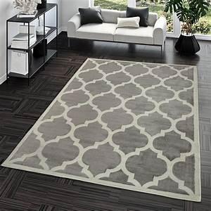 Wohnzimmer Teppich Grau : kurzflor teppich modern marokkanisches design wohnzimmer interior trend grau moderne teppiche ~ Indierocktalk.com Haus und Dekorationen