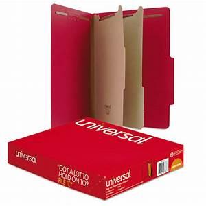 Universal unv10303 classification folders letter size 6 for Classification folders 2 dividers letter size