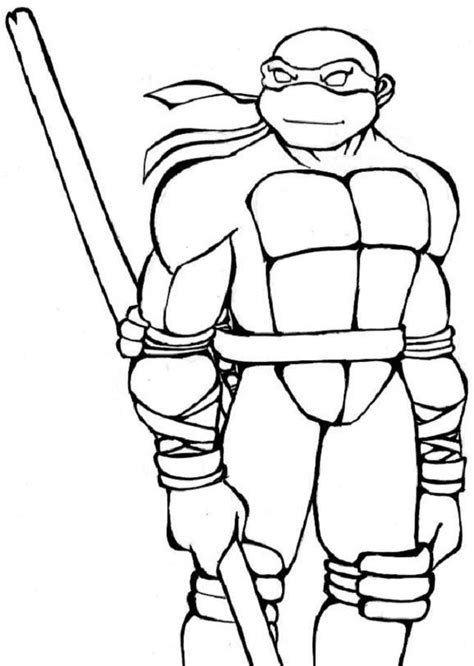 Dibujo Tortugas Ninja Para Colorear Easy cartoon
