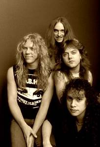 Metallica 1986 ( James Hetfield, Cliff Burton, Lars Ulrich ...