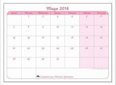Calendario mayo 2018 63LD Ideas Plástica Calendario
