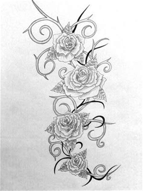 roses and thorns tattoo- less tribal, more organic