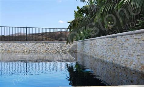 natural stone pool stacked stone veneer pools