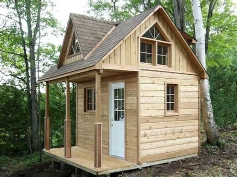 Small Cabin Plans With Loft Kits Small Lake Cabin Plans