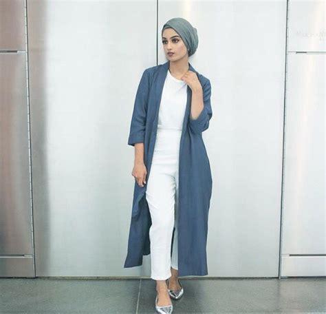 white long jacket  top  turban hijab hijab