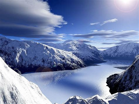 Mountain Landscapes Snow Covered Mountains Nature And