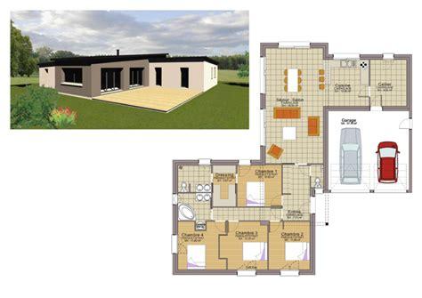 plan maison plain pied 3 chambres avec garage plan maison plain pied 3 chambres 110m2