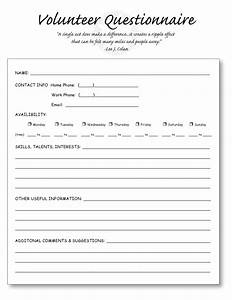 Education world teacher tools templates including the for Volunteer questionnaire template