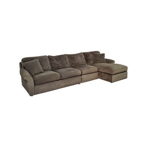 grey corduroy sectional sofa 74 off macy 39 s macy 39 s modern concepts charcoal gray