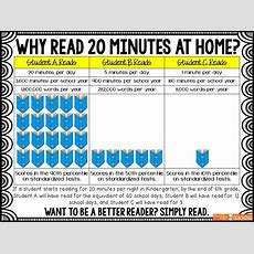 Back To School Infographic Why Read 20 Minutes At Home? Perfect To Send Home The First Week Of