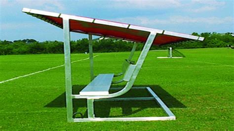 Covered benches, covered soccer benches portable soccer