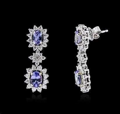 Earrings Tone Diamond Tanzanite 14kt 76ctw Fine