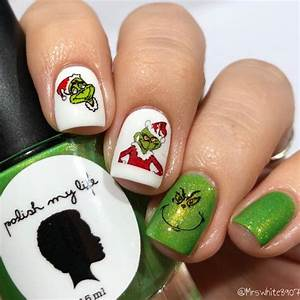 Clear Nail Designs With Flowers The Grinch Nail Art Nail Water Decals Transfers