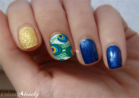 fishingbeauty jamberry nail shields peacock
