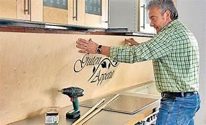 Kuchenruckwand aus holz kitchens and room for Küchenrückwand holz