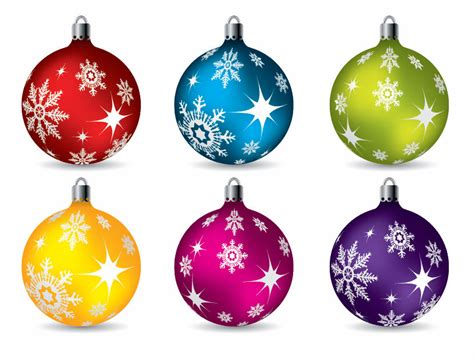 colorful christmas ball ornaments vector free vector 4vector