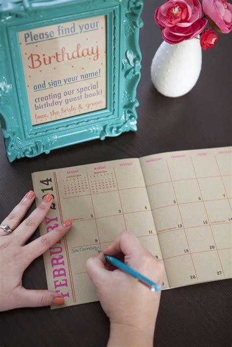 how to make a birthday calendar guest book diy wedding