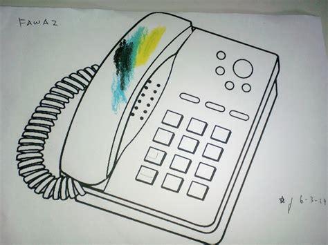 gambar mewarnai telepon rumah gambar mewarnai rumah