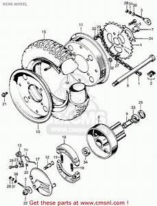 Honda Z50a Mini Trail K2 Usa Rear Wheel