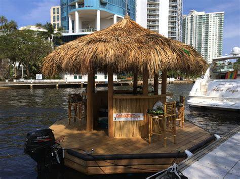 A Floating Tiki Bar Boat