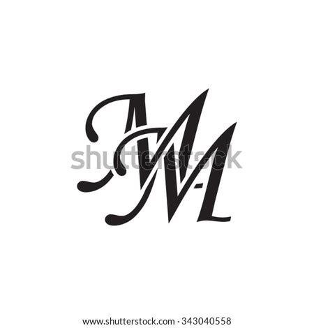 mm initial monogram logo stock vector  shutterstock
