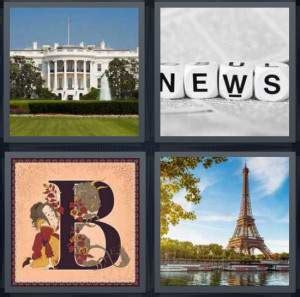 four pictures one word 7 letters 4 pics 1 word answer for white house news b 33303
