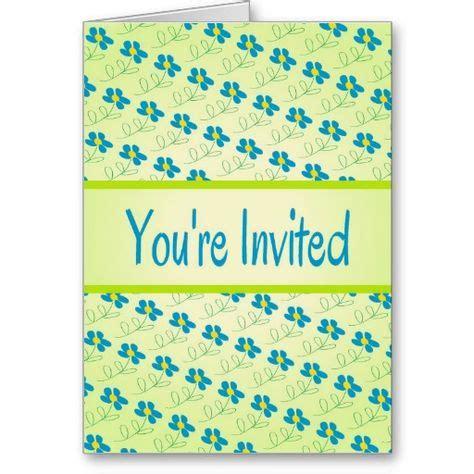 pretty blue floral design invitation zazzlecom