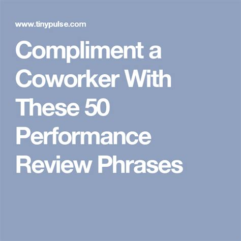 compliment  coworker    performance review