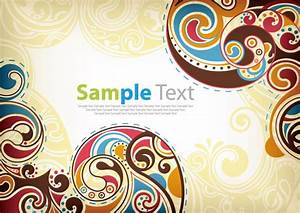 Retro Floral Vector Background | Free Vector Graphics ...