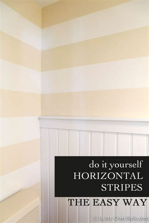 Wand Streichen Streifen Horizontal by Adding Horizontal Wall Stripes To The Powder Room In My