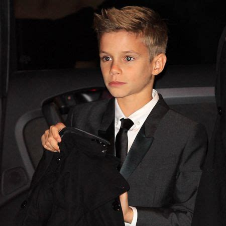 Beckham Boys Hairstyles by Romeo Beckham For Burberry So Handsome Just Like His