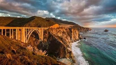 Carmel California Monterey Bridge Bixby Sea Wallpapers
