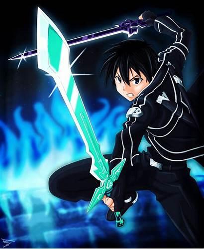 Kirito Dual Sword Wield Blade Swords Background