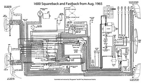 1967 Vw Engine Diagram by Thesamba Type 3 Wiring Diagrams