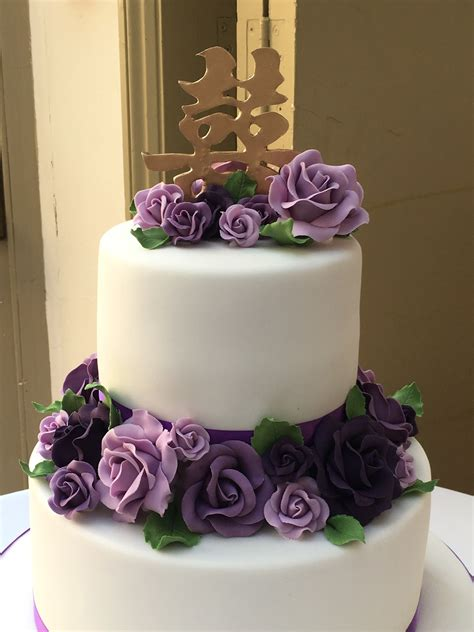 tier purple rose wedding cake wedding cakes cakeology