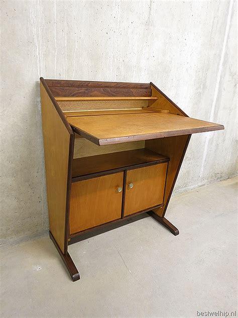 bureau secretaire vintage mid century vintage design secretaire bureau kast cabinet