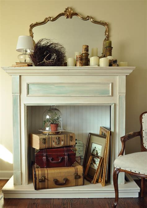 Fake Fireplace With Mantel Fireplace Designs