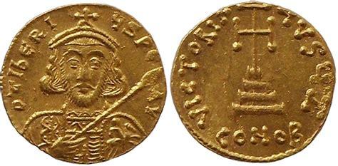 Solidus Ma by Solidus 698 705 Byzantine Empire Tiberius Iii Apsimar Ef
