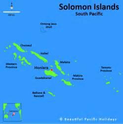 Solomon Islands South Pacific Map