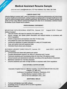 medical assistant resume sample resume companion With experienced medical assistant resume