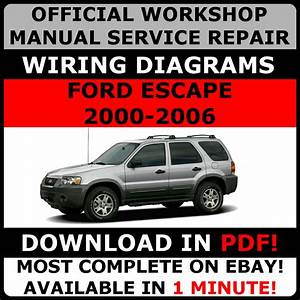Official Workshop Service Repair Manual Ford Escape 2000