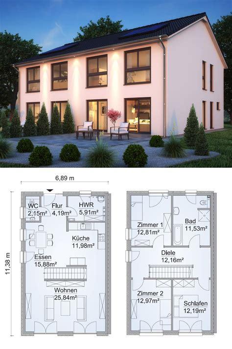 Moderne Doppelhaushälfte Grundrisse by Doppelhaus Architektur Modern Grundriss Schmal Mit