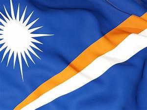 Flag background. Illustration of flag of Marshall Islands