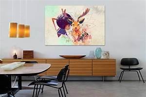 Tableau Deco Maison : tableau d co t te de cerf ~ Teatrodelosmanantiales.com Idées de Décoration