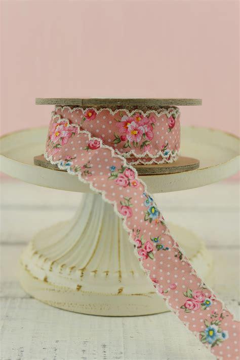 vintage floral ribbon pink inxyds
