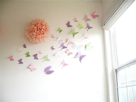 Pottery Barn Butterfly Wall Decor by 30 Butterflies 3d Butterfly Wall 3d By Simplychiclily
