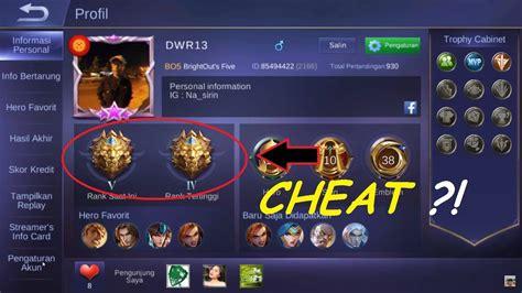 Cara Cheat/hack Rank Mobile Legend (dijamin Sukses 100
