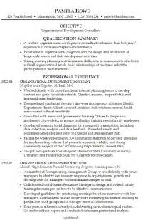 organizational change management resume exles resume for organizational development susan ireland resumes