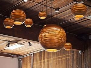 Plafonnier En Bois : luminaire plafonnier bois plafonnier salon design lasablonnaise ~ Melissatoandfro.com Idées de Décoration