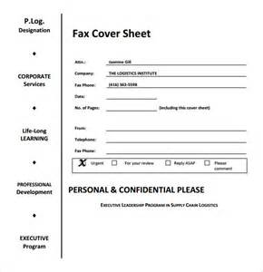 fax cover sheet for sending resume sle fax cover sheet 6 documents in word pdf